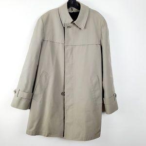 Vintage Tan London Fog Maincoats Mens Overcoat 40R